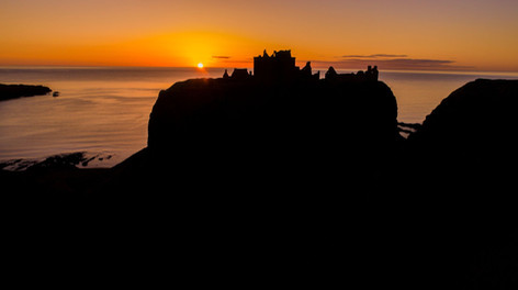 Dunottar Castle at Sunset Facebook@skysthelimitdai