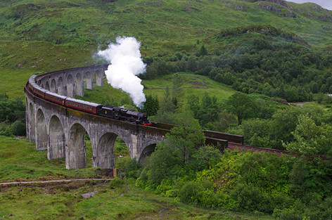 The Jacobite Crossing Glenfinnan Viaduct