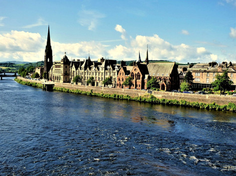 Perth High Street over River Tay