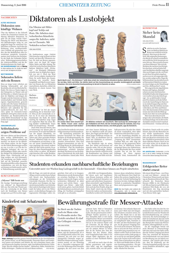Freie Presse article by Jana Peters