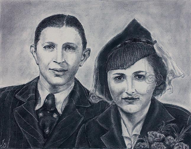 Old photo couple