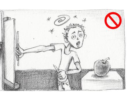 2) Začínáme kreslit: Účinky perspektivy a visování