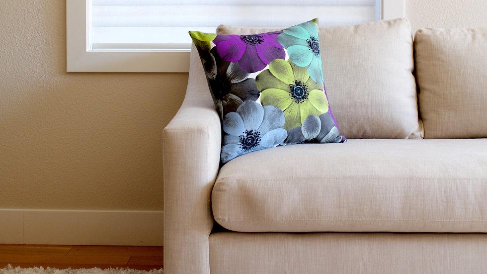 Purple & green flower floral