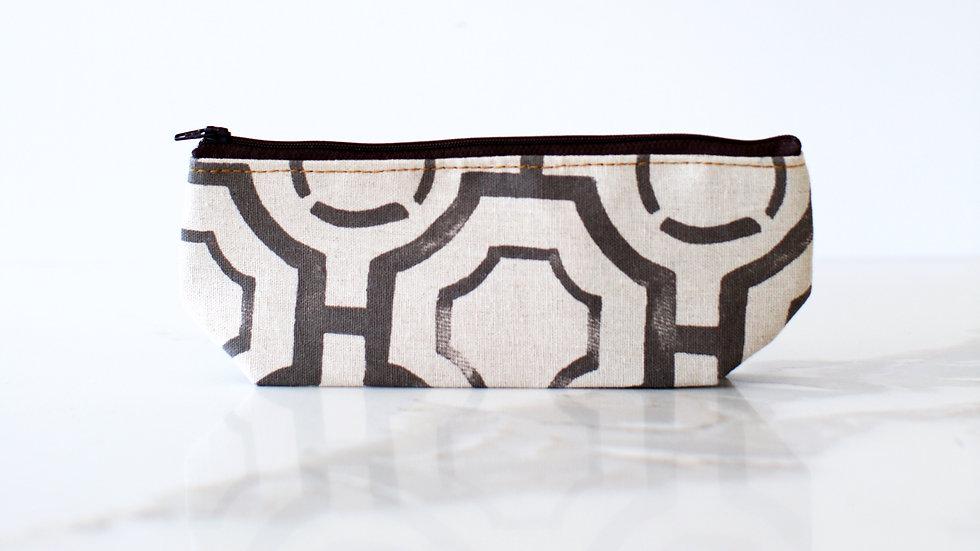 Cosmetic Bag Grey Geomentric