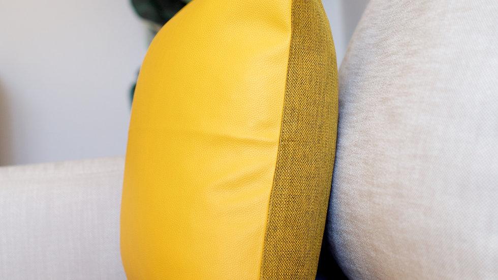 Mustard Leather & Linen full cover