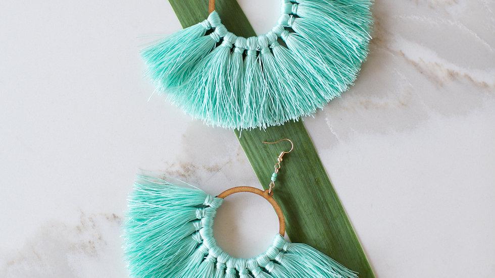 Fringe Hoop Turquoise