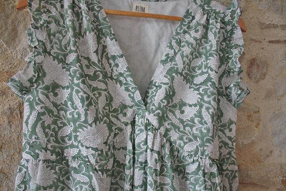 robe longue bohème verte