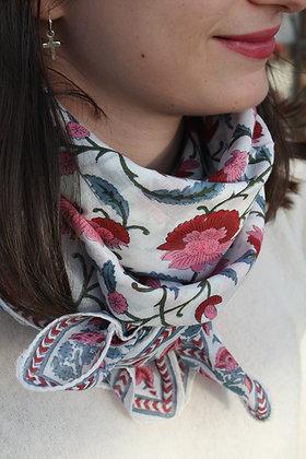 foulard Jasmin - rose