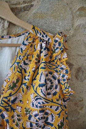 robe longue bohème jaune