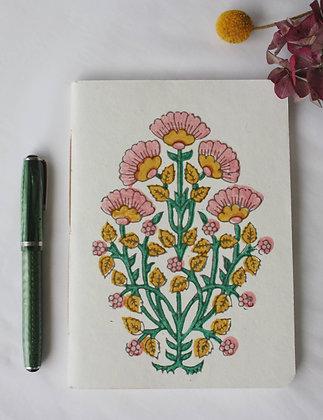 cahier Bouquet indien rose