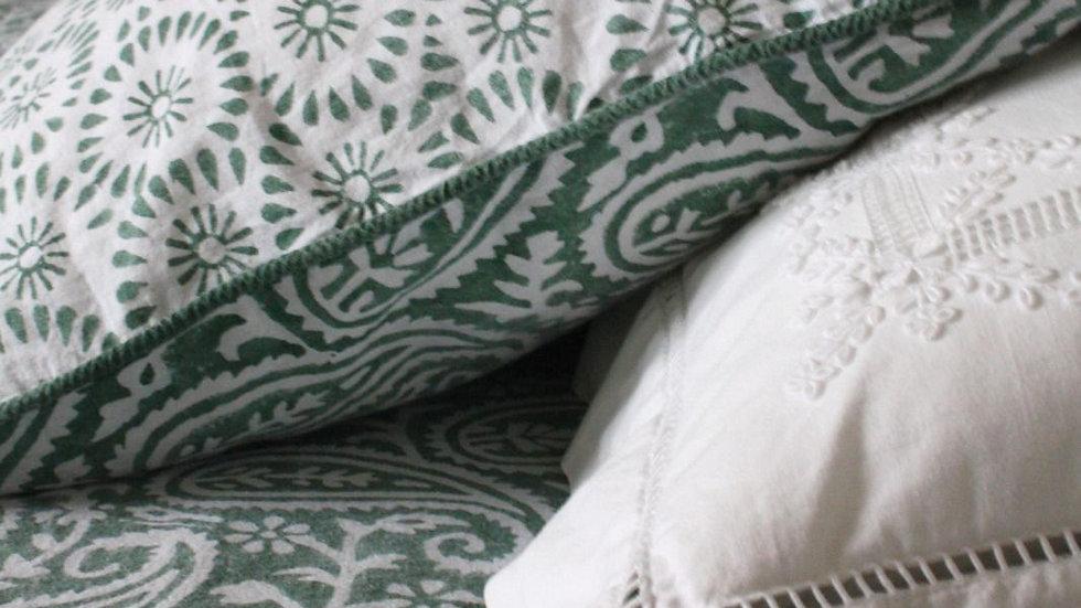 Parure de lit Green Paisley - housse de couette - 2 taies