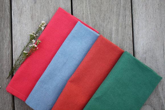 serviettes de tables unies