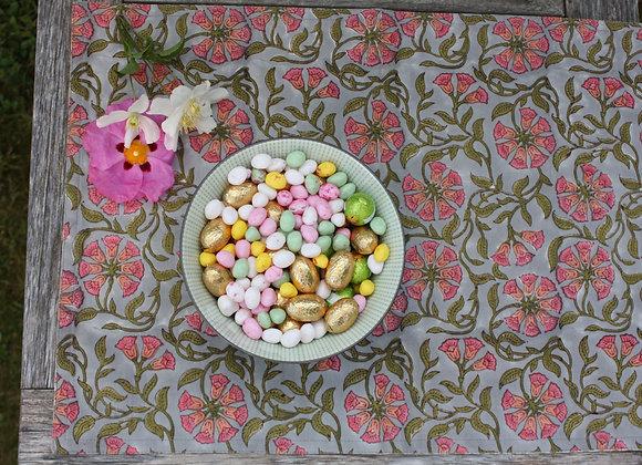 Deux sets de table Primevère gris et rose   2 placemats