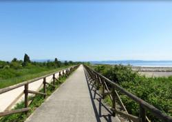 Fietsroute langs de kust
