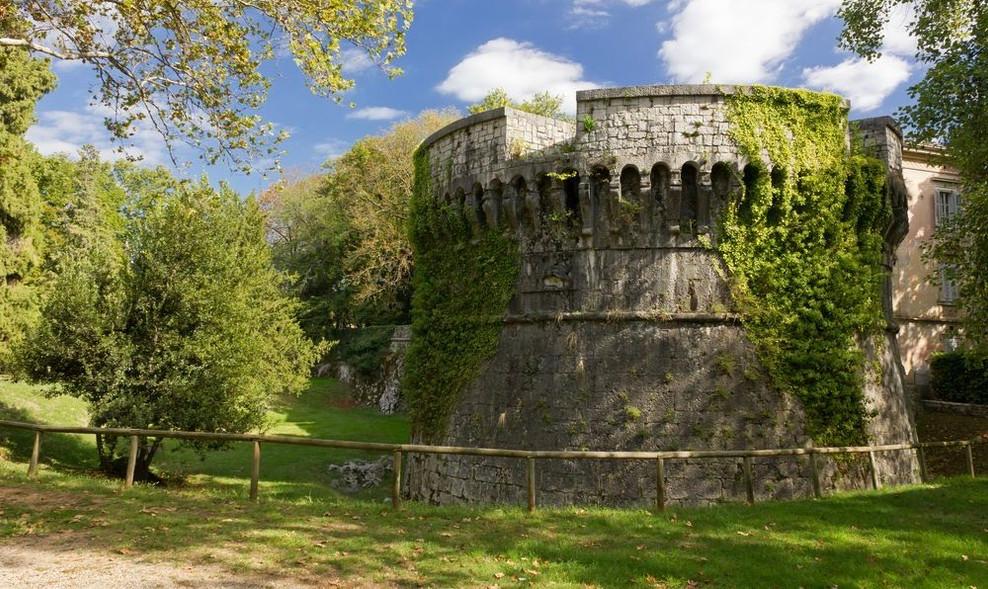 Een bastion van het Fort van Gradisca