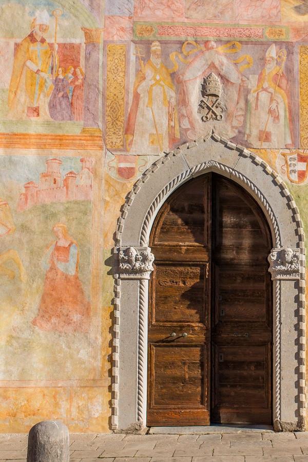 Detail van het San Biagio Kerkje