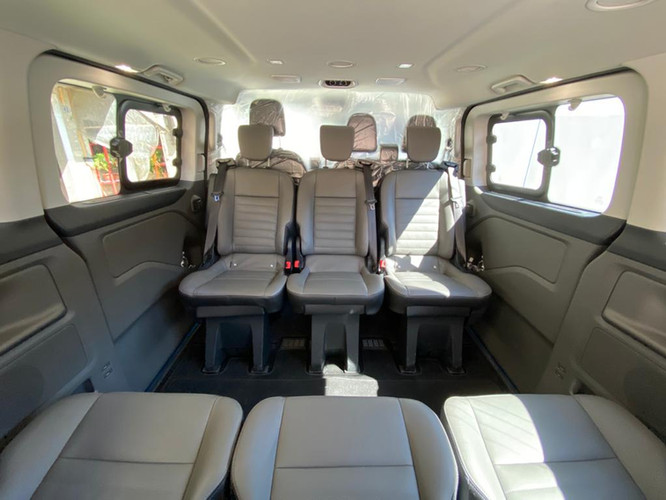 Inside of the van for 8 persons
