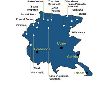Alle ski gebieden in Friuli Venezia Giulia