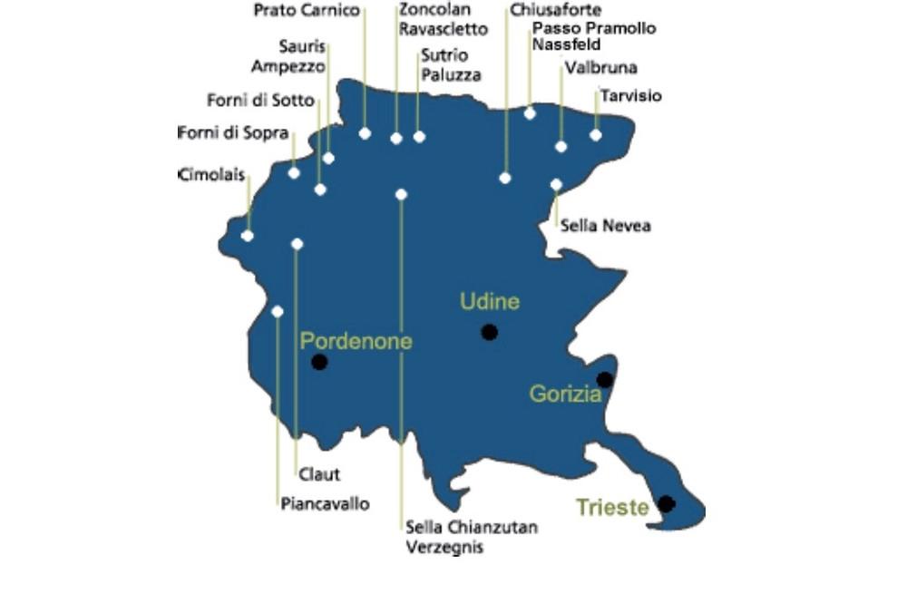 Waar kun je skiën in Friuli Venezia Giulia?