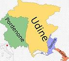 Dit zijn de provincies van de regio Friuli Venezia Giulia