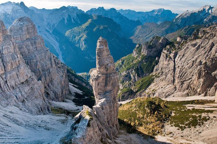 De klokkentoren van Val Montanaia