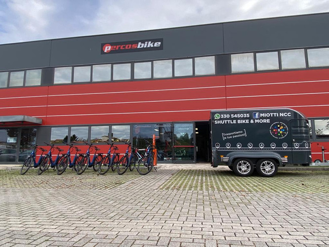 The e-bikes and the shuttle bus