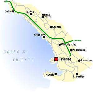 De provincie Triëste Trieste