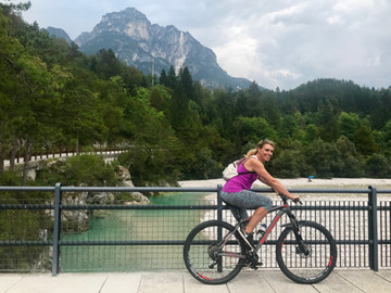 Lungo la pista Alpe Adria