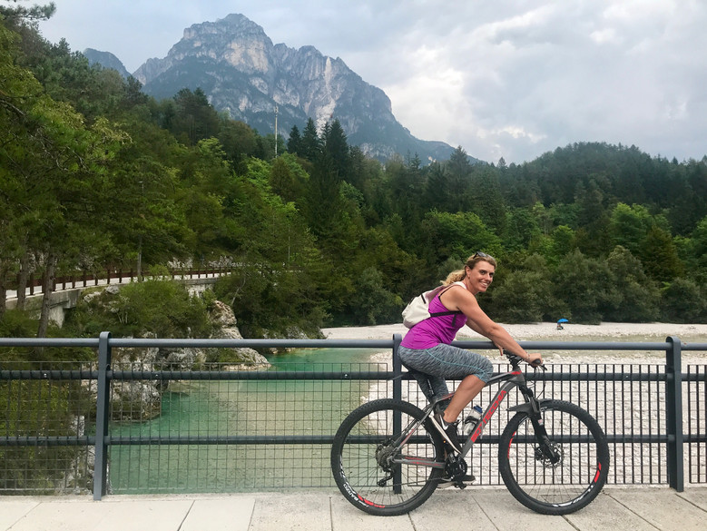 Biking on the Alpe Adria cycle trail