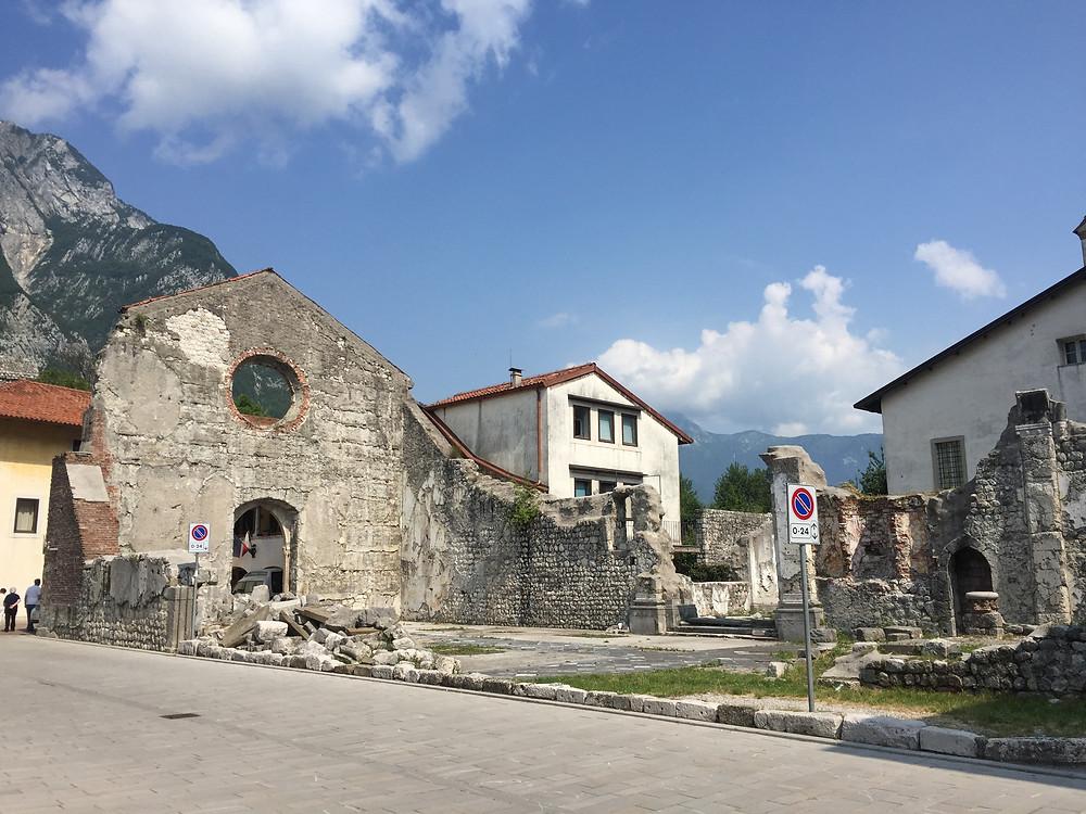 De nooit meer wederopgebouwde San Giacomo kerk