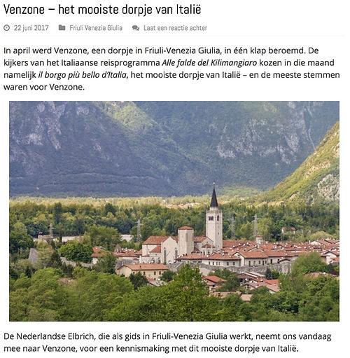 blog over Venzone