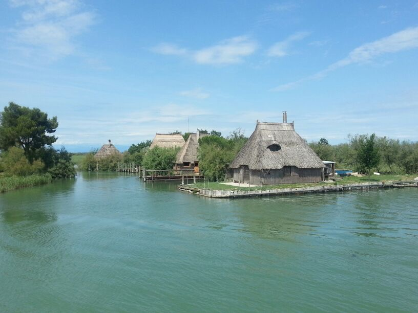 The fisher villages in the lagoon