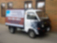 Pure Pressure. Mini truck used for advertising and small graffiti removal jobs in Kelowna.
