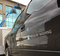 F150. Kelowna pressure washing specialists vehicle - Pure Pressure Power Washing and Graffiti Removal