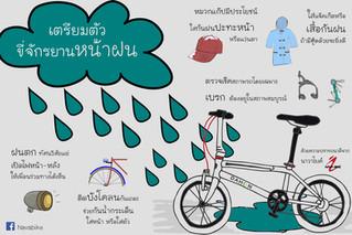 พร้อมรับมือ ปั่นจักรยานหน้าฝน