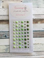 Veroscrap - Enamel Dots Green