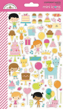 Doodlebug Design Hey Cupcake Doodle pops Mini Icons stickers