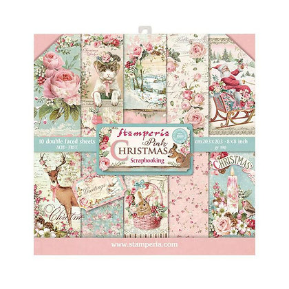 Pad scrapbooking 10 fogli collezione Pink Christmas   di Stamperia