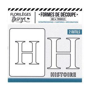 Florileges Design fustelle  lettera H collezione  A la Lettre