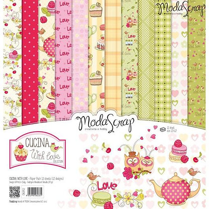 MODASCRAP PAPER PACK CUCINA WITH LOVE 12X12