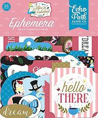 Ephemera die cut Echo Park  collezione Alice in wonderland