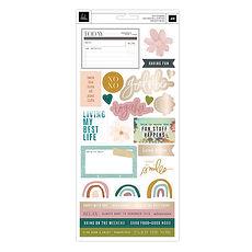"""Heidi Swapp- Plancia Cardstock Stickers- collezione """" Care F"""