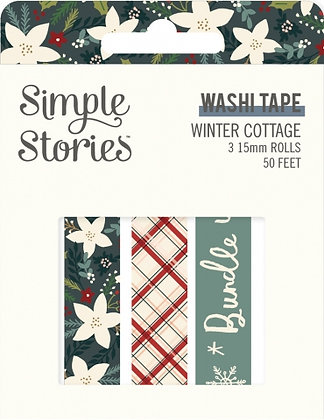 SIMPLE STORIES- WINTER COTTAGE-WASHI TAPE