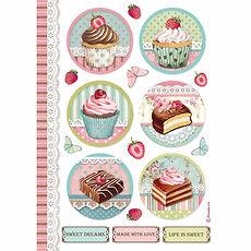 Carta di riso A4 round mini cake Collezione Sweety di Stamperia