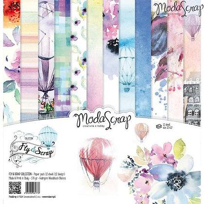 MODASCRAP PAPER PACK FLY & SCRAP  12 X 12
