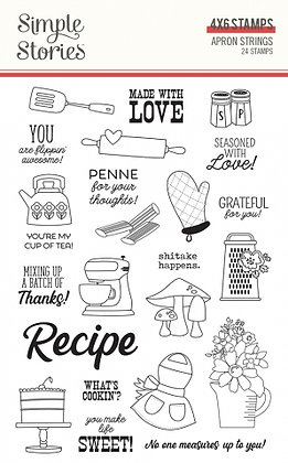 SIMPLE STORIES- APRON STRINGS -STAMPS