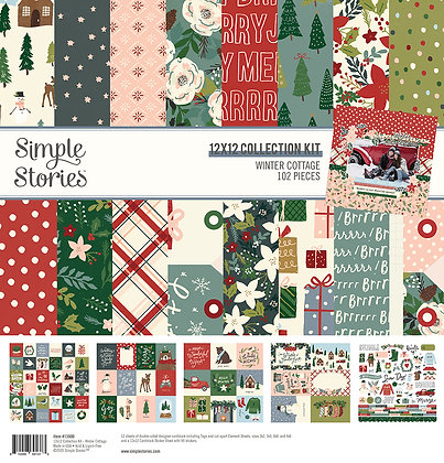 SIMPLE STORIES- WINTER COTTAGE - COLLECTION KIT