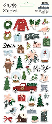 SIMPLE STORIES- WINTER COTTAGE-PUFFY STICKERS