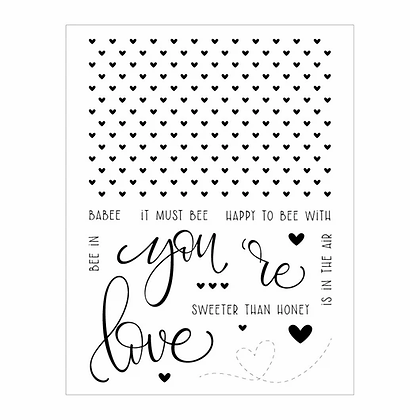 Moda Scrap CLEAR STAMPS-LOVE