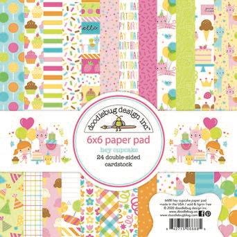 Doodlebug Design Hey Cupcake Paper pad 6 x 6 inc